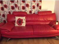 2 x three seater sofas £100 each or two for £175