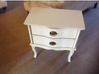 Laura Ashley side table bedside table Lille rare shabby chic made in Italy