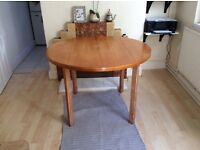 MUST GO!!Retro wooden table with two solid chairs