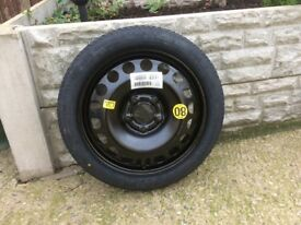 Spare wheel for Vauxhall Meriva