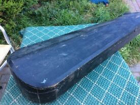 Coffin Violin Case very old as seen both latches work wood.