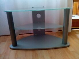 Frosted glass TV corner unit