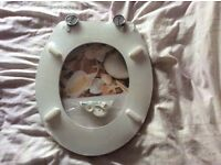 Seaside theme toilet seat