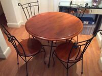 Dining table and 4 chairs, in ex, cond could deliver