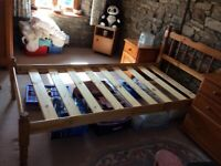 Single Bed Frame solid pine - 2 for sale