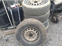 Mercedes sprinter tyres rims x4 225-70-15c