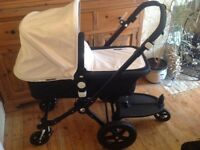 Bugaboo Cameleon 3, immaculate condition, 2016 model with buggy board,and new style harness.