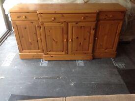 Ducal light oak finished sideboard