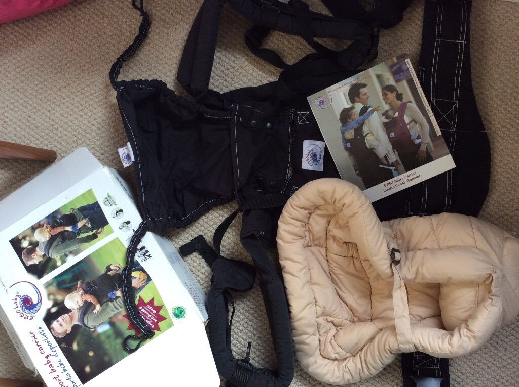 Ergo Baby Sport Carrier And Newborn Insert Box And Instructions In