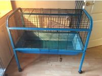 Indoor mobile rabbit/guinea pig cage