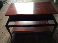 Free dark wood coffee table FREE