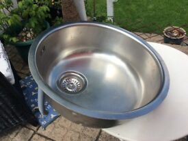 Stainless steel sink ( Round) model 430 in very nice condition,Hyde Tameside area.
