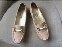 Russell & Bromley nude loafers.