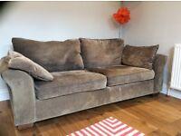 2 seater brown Next Sofa