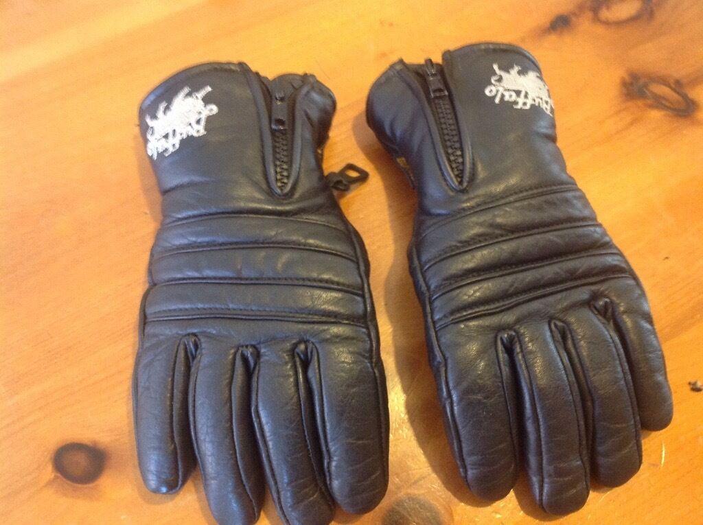 Buffalo leather motorbike gloves xxs