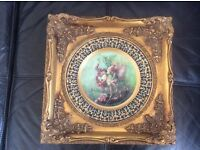 Ornate gold flower fairy picture