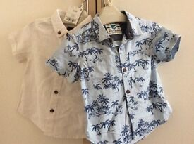 Next baby shirts 9-12 months (1 new)
