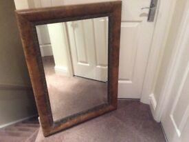 WAlnut effect mirror