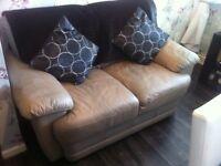 2 seater leather sofa ex con