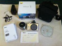 Nikon 1 AW1 Camera Kit w/ 11-27.5 mm Zoom Lens, barely used, plus quality shoulder bag