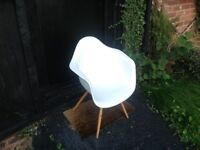 1x grey winged Eames style chair for sale