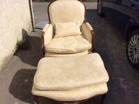 Reproduction Armchair & Footstool in vgc £110