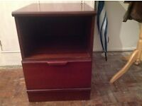 Wooden bedside cabinet with drawer