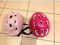 Kids, girls bike helmets.