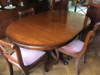Beautiful Dining Room Table, Chairs and Cabinet for Sale