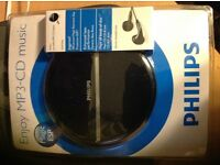 NEW Philips MP3-CD music player