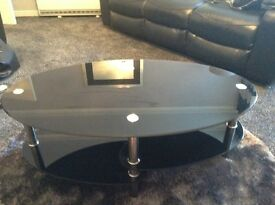 Dark Glass Two Tier Coffee Table