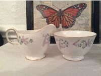 Colclough Milk Jug and Matching Sugar Bowl