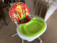 High Chair in as New Condition