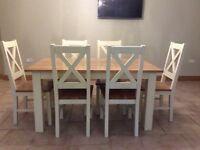 Solid wood table/chairs