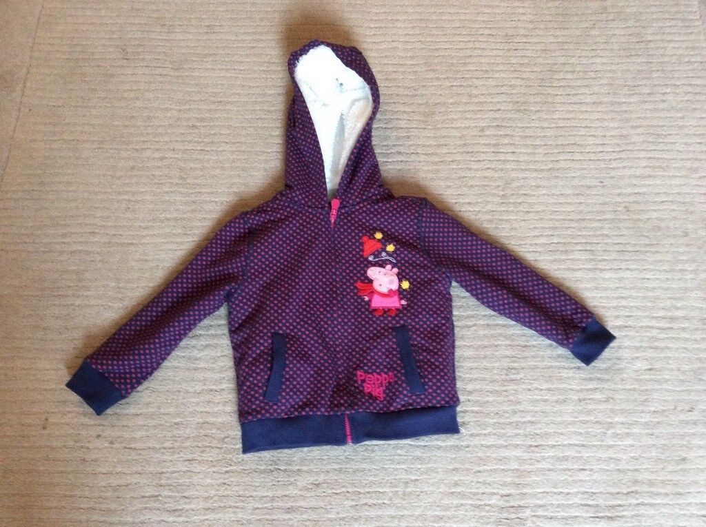 Peppa pig fleece lined hoodie from M&S aged 2-3