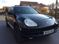 Porsche Cayenne 4.5 triptronic paddle shift leather sat nav fsh 55 reg
