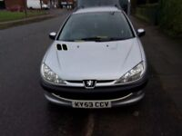 Peugeot 206 SW-XT . 1.4 cc very low mileage 87000 M.O.T AUG VERY CLEAN CAR