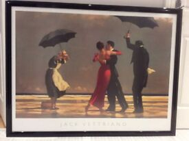 Large framed print of The Singing Butler by Jack Vettriano