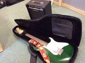 Yamaha Pacifica Guitar & Amplifier