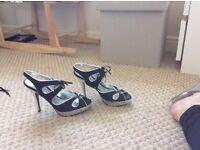 Ladies high heeled sandles