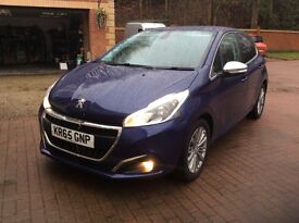2015 65 Peugeot 208 new shape 4 5 door hatchback,1.2 only 9500 miles,full service history,may px,