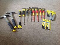 Selection of brand new Stanley hand tools