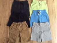 Bundle of boy shorts x6 age 4-5 year old included from M&S and Next in excellent condition.