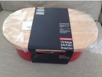 Brand new Typhoon vintage bread bin - red