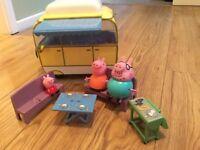 Peppa pig camper van and BBQ set