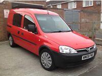 5 Seater Vauxhall combo van, low mileage, new Towbar.