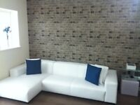 White leather corner sofa for Sale