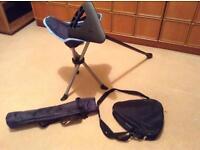 Walking stick seat/camping stool