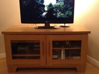 Hampshire Entertainment Unit - Natural Oak Effect Finish - Harvey's Furniture