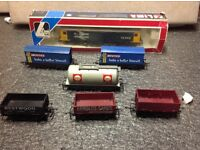 Oo gauge model trains, track and buildings for sale